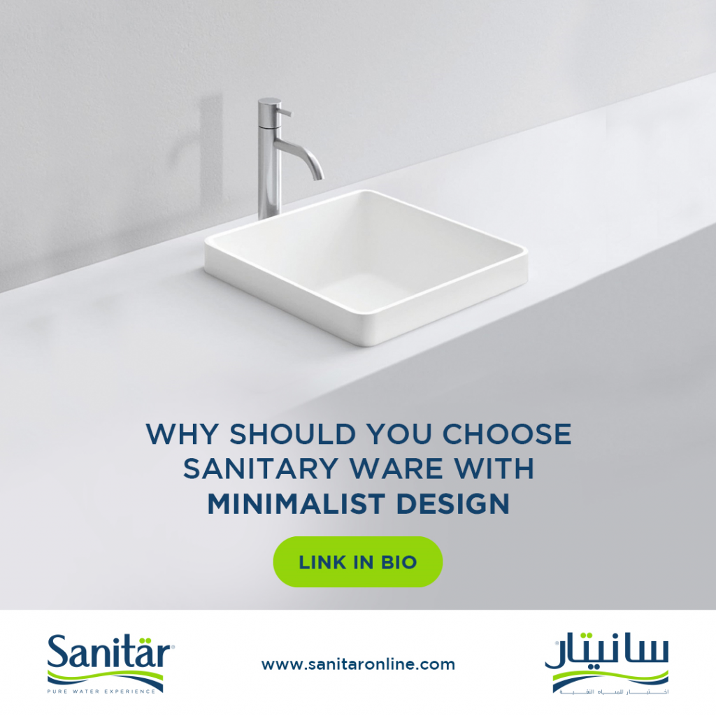 Why should you choose sanitary ware with minimalist design.